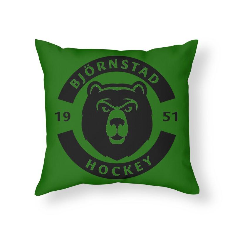 Björnstad Hockey Home Throw Pillow by Hadeda Creative's Artist Shop