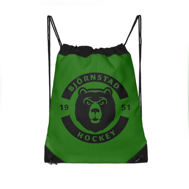 Björnstad Hockey Accessories Drawstring Bag Bag by Hadeda Creative's Artist Shop