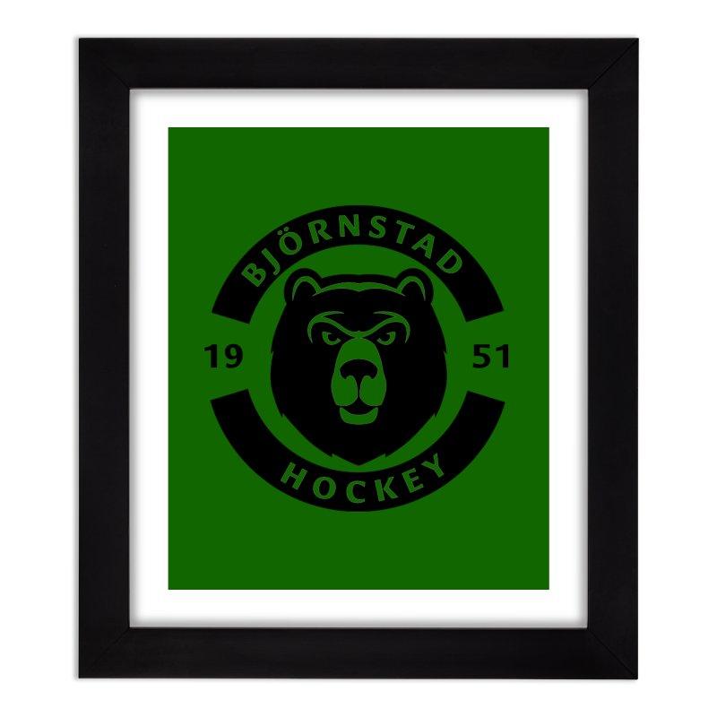 Björnstad Hockey (One Colour Logo) Home Framed Fine Art Print by Hadeda Creative's Artist Shop
