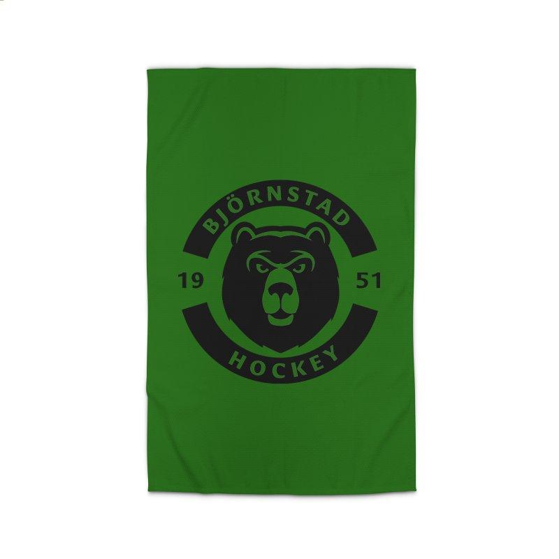 Björnstad Hockey (One Colour Logo) Home Rug by Hadeda Creative's Artist Shop