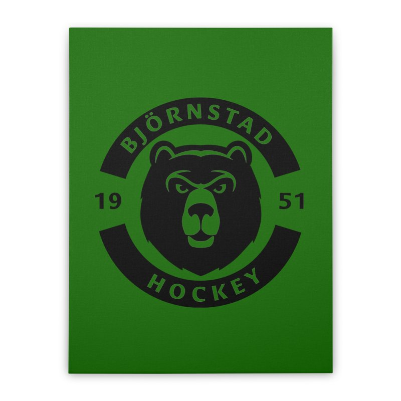 Björnstad Hockey (One Colour Logo) Home Stretched Canvas by Hadeda Creative's Artist Shop