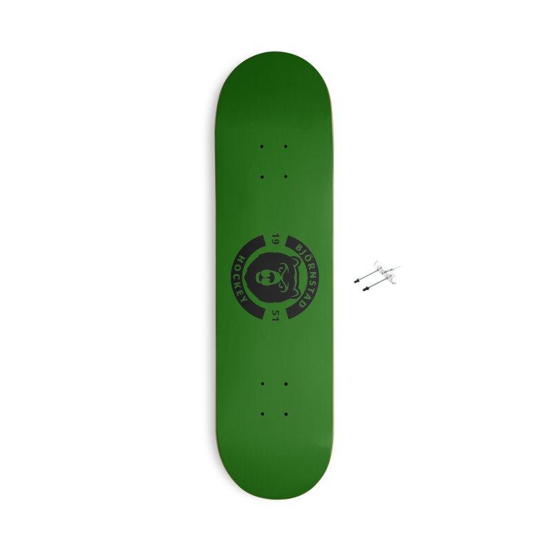 Björnstad Hockey (One Colour Logo) Accessories Skateboard by Hadeda Creative's Artist Shop