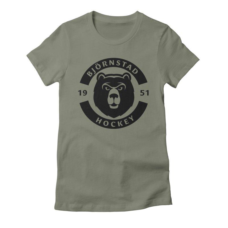 Björnstad Hockey (One Colour Logo) Women's T-Shirt by Hadeda Creative's Artist Shop