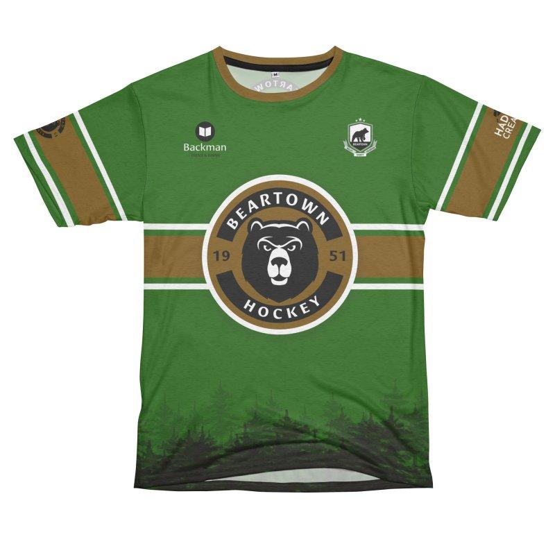 Beartown Hockey Jersey Women's Unisex French Terry T-Shirt Cut & Sew by Hadeda Creative's Artist Shop