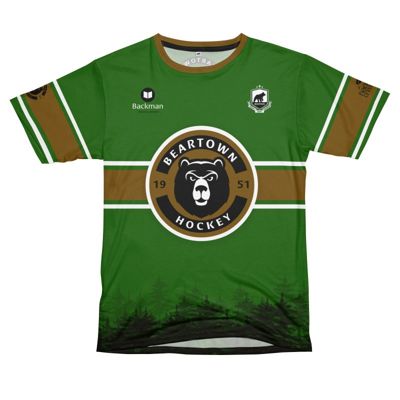 Beartown Hockey Jersey Women's Unisex T-Shirt Cut & Sew by Hadeda Creative's Artist Shop