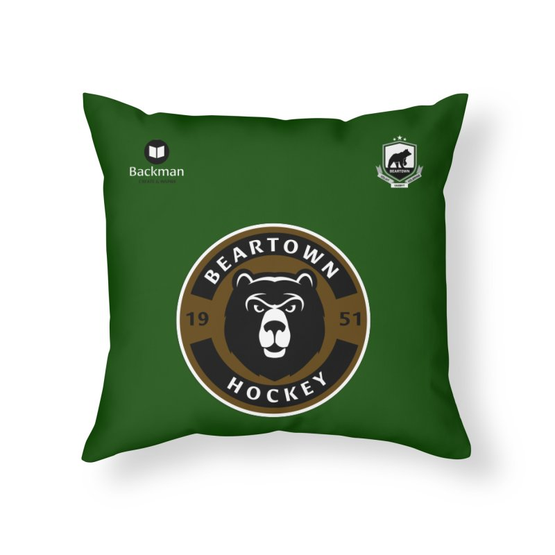 Beartown Hockey Jersey Home Throw Pillow by Hadeda Creative's Artist Shop
