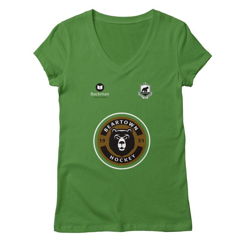 Beartown Hockey Jersey Women's V-Neck by Hadeda Creative's Artist Shop