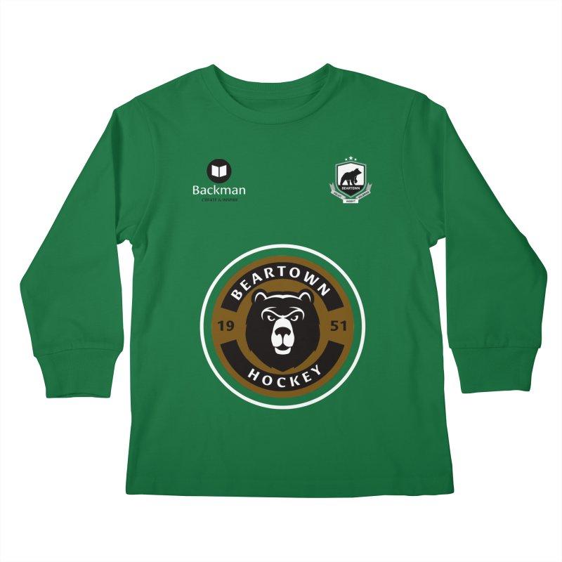 Beartown Hockey Jersey Kids Longsleeve T-Shirt by Hadeda Creative's Artist Shop