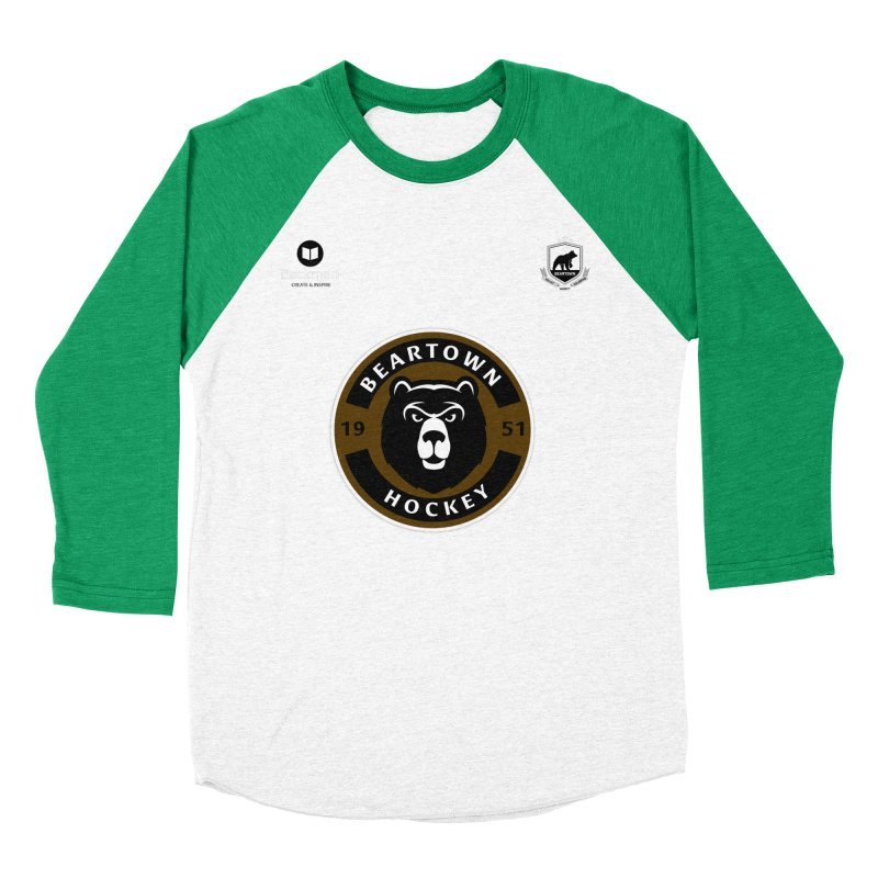 Beartown Hockey Jersey Men's Baseball Triblend Longsleeve T-Shirt by Hadeda Creative's Artist Shop
