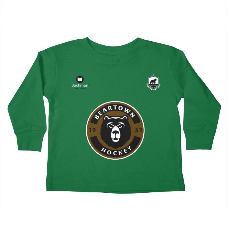 Beartown Hockey Jersey Kids Toddler Longsleeve T-Shirt by Hadeda Creative's Artist Shop