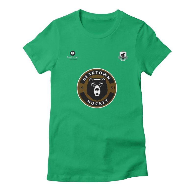 Beartown Hockey Jersey Women's Fitted T-Shirt by Hadeda Creative's Artist Shop
