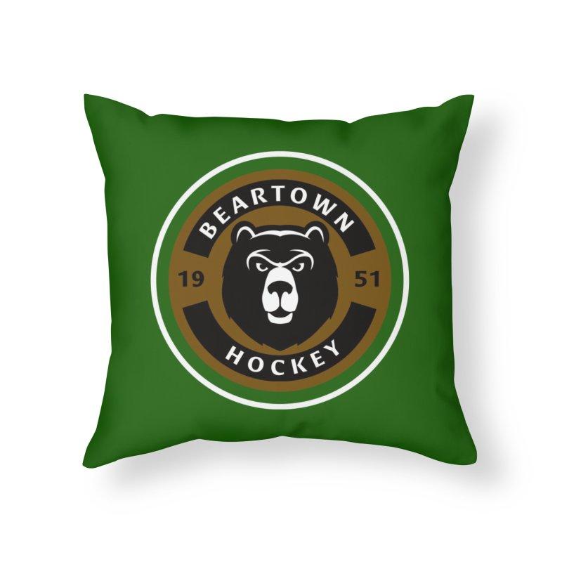 Beartown Hockey Jersey Home Throw Pillow by Hadeda Creative's Artist Shop