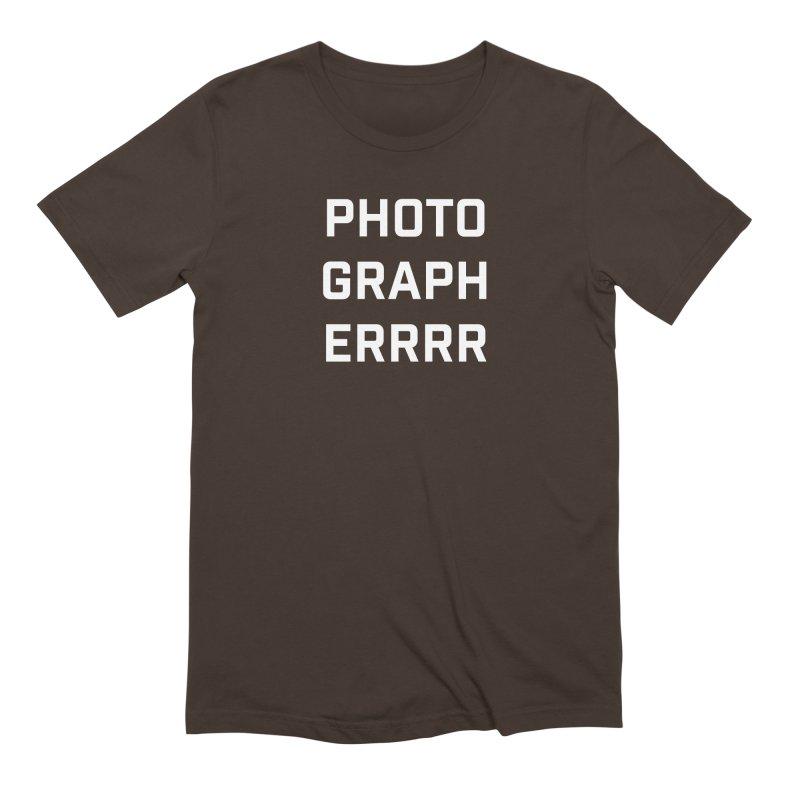 Photographerrr Men's Extra Soft T-Shirt by Hadeda Creative's Artist Shop