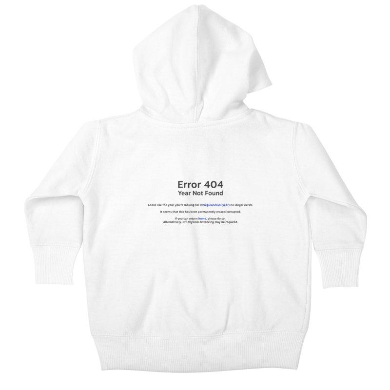 Error 404 Kids Baby Zip-Up Hoody by Hadeda Creative's Artist Shop