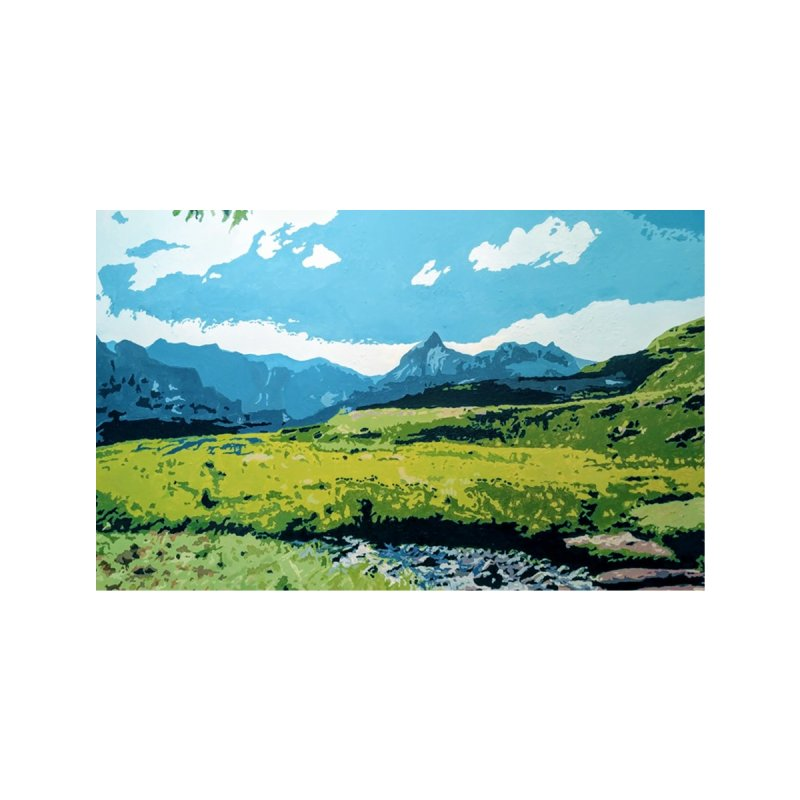 Drakensberg Mountains Painting Accessories Face Mask by Hadeda Creative's Artist Shop