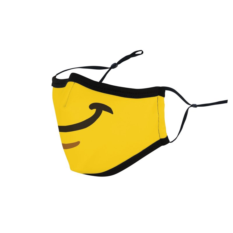 Minifig Smirk Accessories Face Mask by Hadeda Creative's Artist Shop