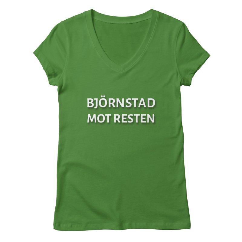 Beartown Against The Rest (Björnstad Mot Resten) Women's V-Neck by Hadeda Creative's Artist Shop