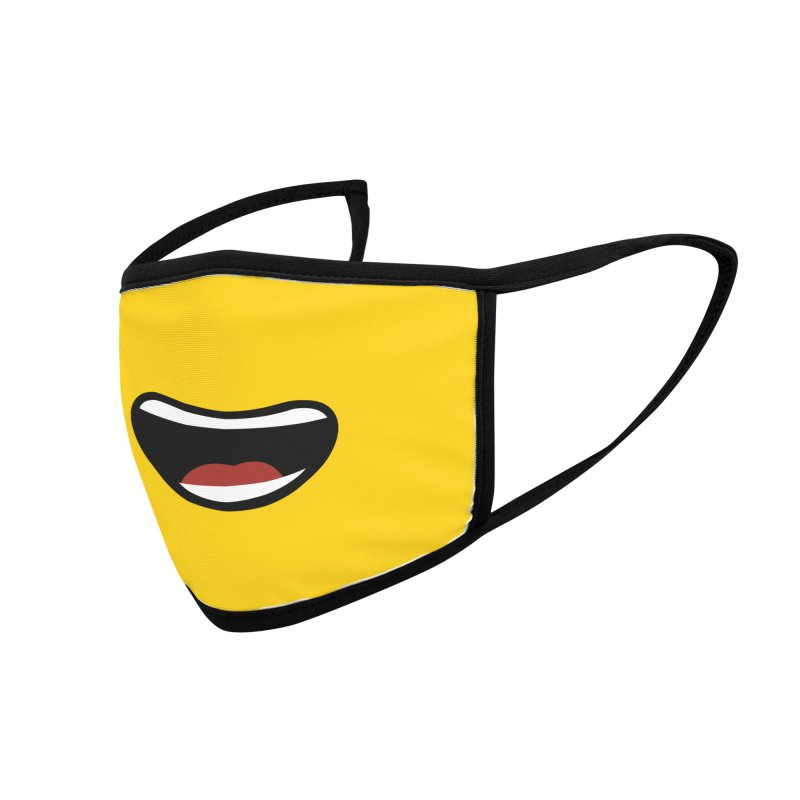 Minifig Happy Mouth Accessories Face Mask by Hadeda Creative's Artist Shop