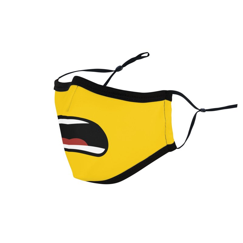 Minifig Shouting Mouth Accessories Face Mask by Hadeda Creative's Artist Shop