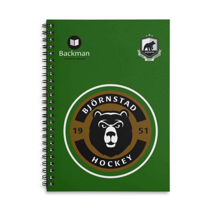 Björnstad Hockey Jersey Accessories Notebook by Hadeda Creative's Artist Shop