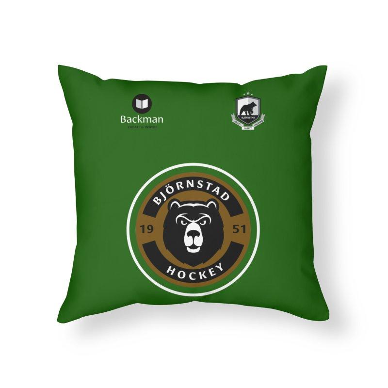 Björnstad Hockey Jersey Home Throw Pillow by Hadeda Creative's Artist Shop