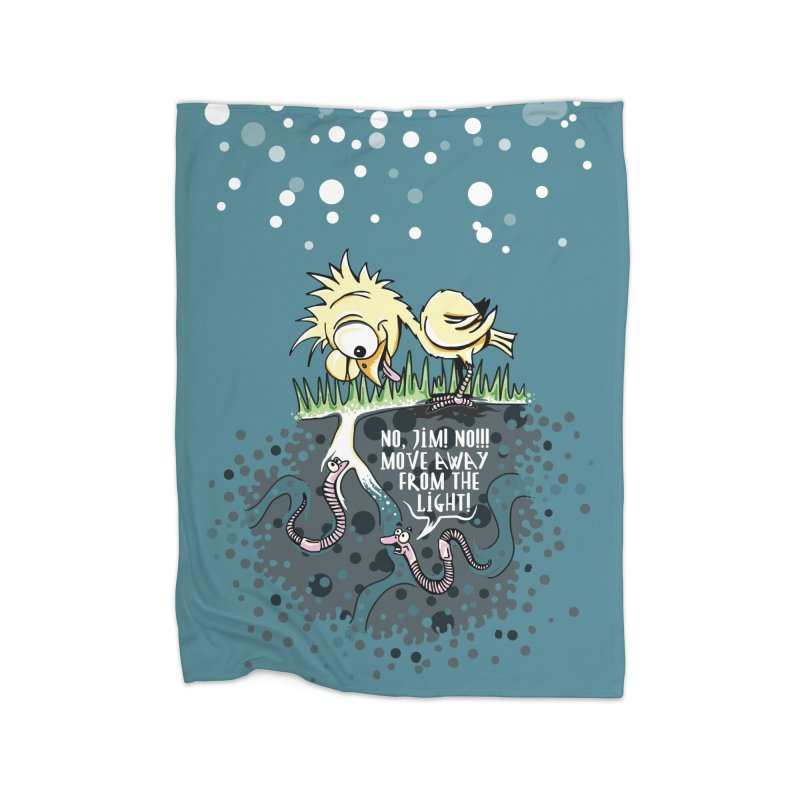 Move Away From The Light! Home Blanket by Hadeda Creative's Artist Shop