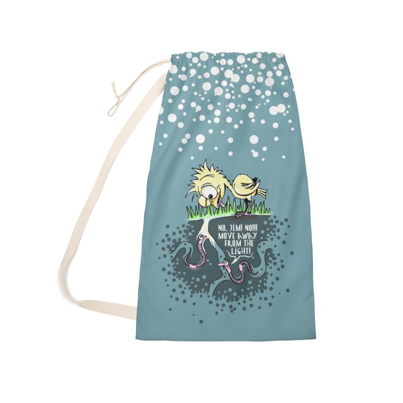 Move Away From The Light! Accessories Laundry Bag Bag by Hadeda Creative's Artist Shop