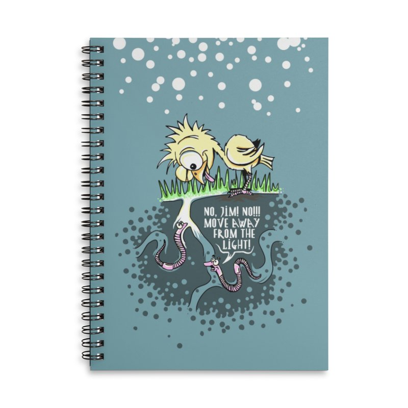 Move Away From The Light! Accessories Lined Spiral Notebook by Hadeda Creative's Artist Shop