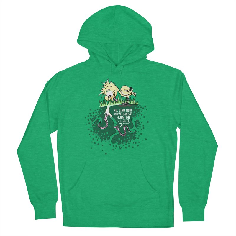 Move Away From The Light! Women's French Terry Pullover Hoody by Hadeda Creative's Artist Shop