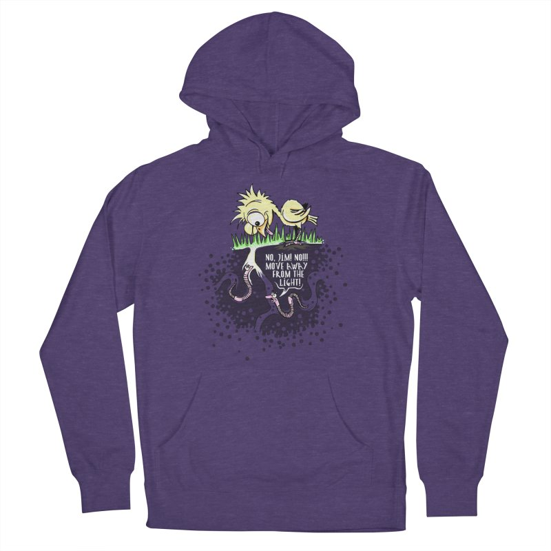 Move Away From The Light! Men's French Terry Pullover Hoody by Hadeda Creative's Artist Shop