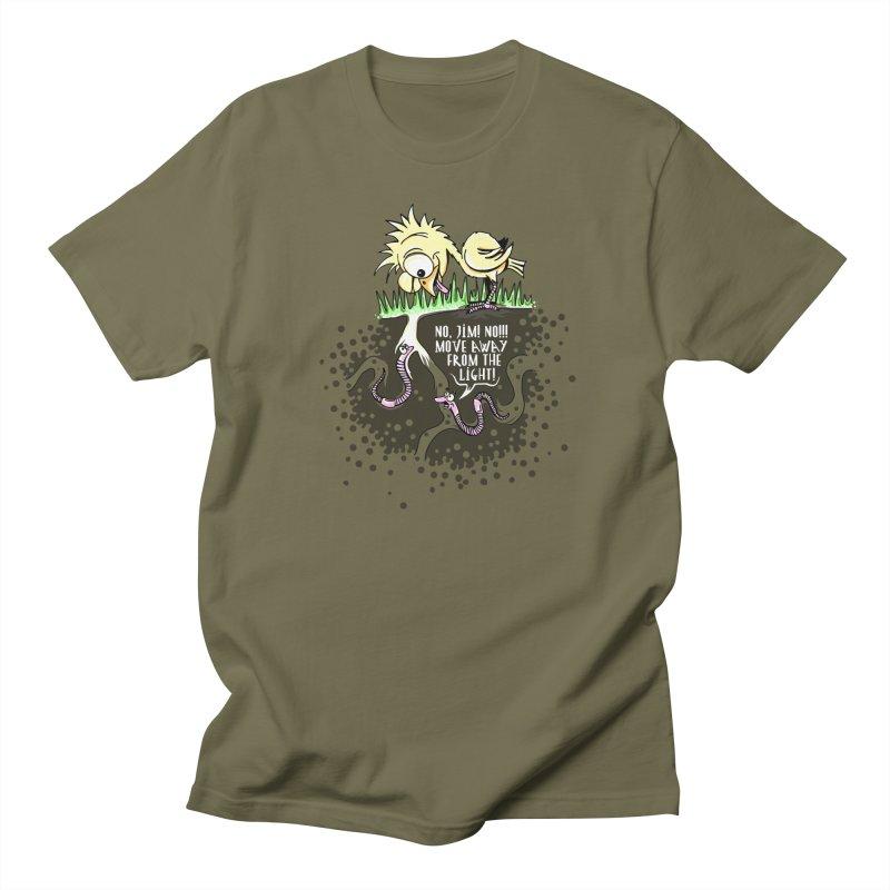 Move Away From The Light! Men's Regular T-Shirt by Hadeda Creative's Artist Shop