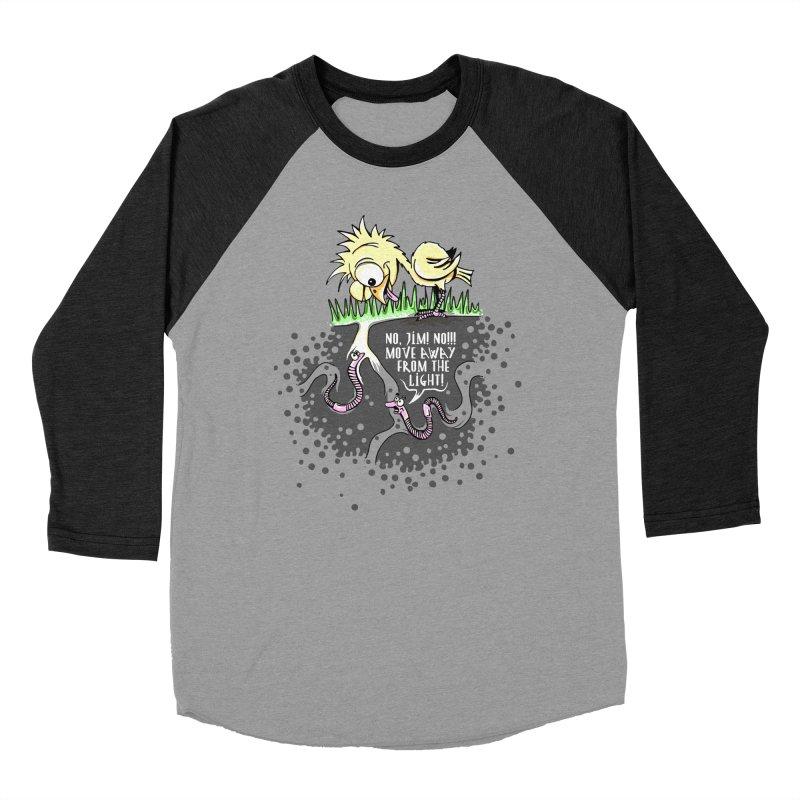 Move Away From The Light! Men's Baseball Triblend T-Shirt by Hadeda Creative's Artist Shop