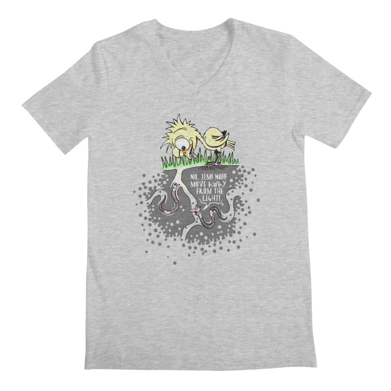 Move Away From The Light! Men's V-Neck by Hadeda Creative's Artist Shop
