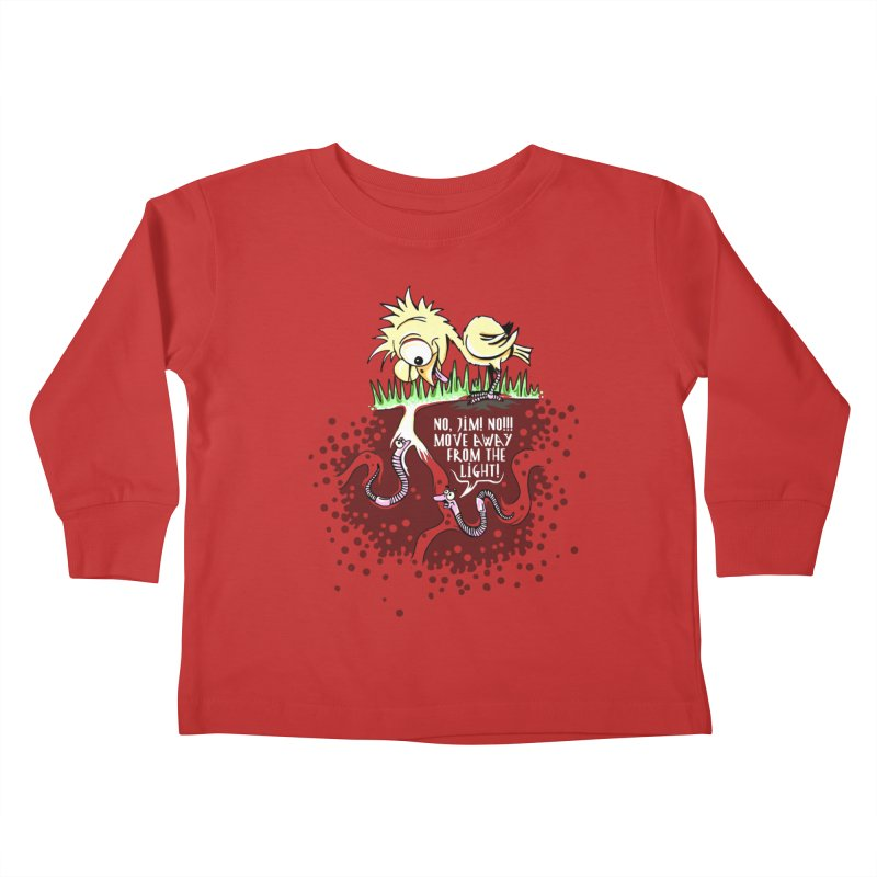 Move Away From The Light! Kids Toddler Longsleeve T-Shirt by Hadeda Creative's Artist Shop