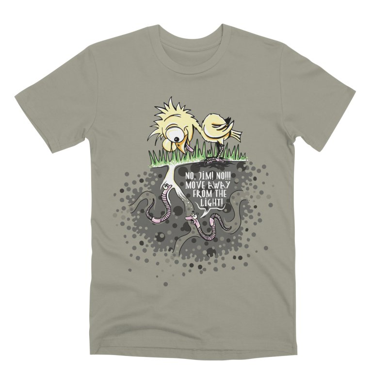 Move Away From The Light! Men's Premium T-Shirt by Hadeda Creative's Artist Shop