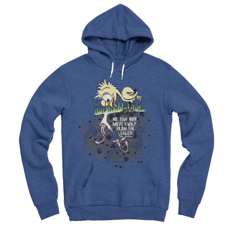 Move Away From The Light! Men's Sponge Fleece Pullover Hoody by Hadeda Creative's Artist Shop