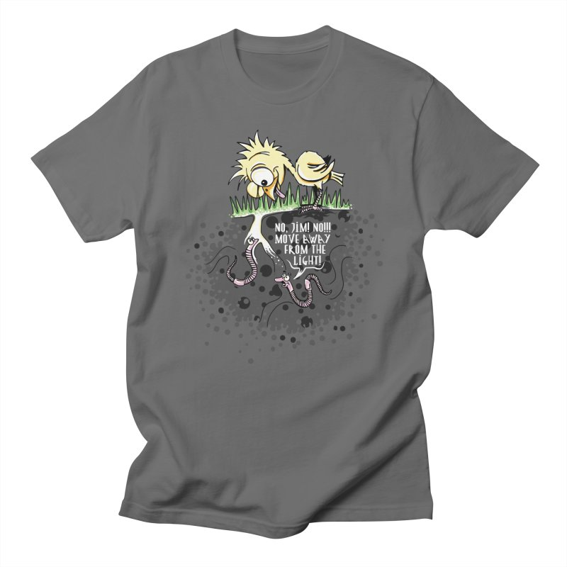 Move Away From The Light! Men's T-Shirt by Hadeda Creative's Artist Shop