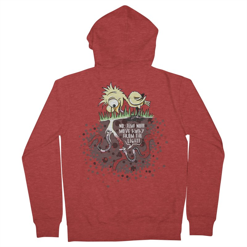 Move Away From The Light! Men's French Terry Zip-Up Hoody by Hadeda Creative's Artist Shop