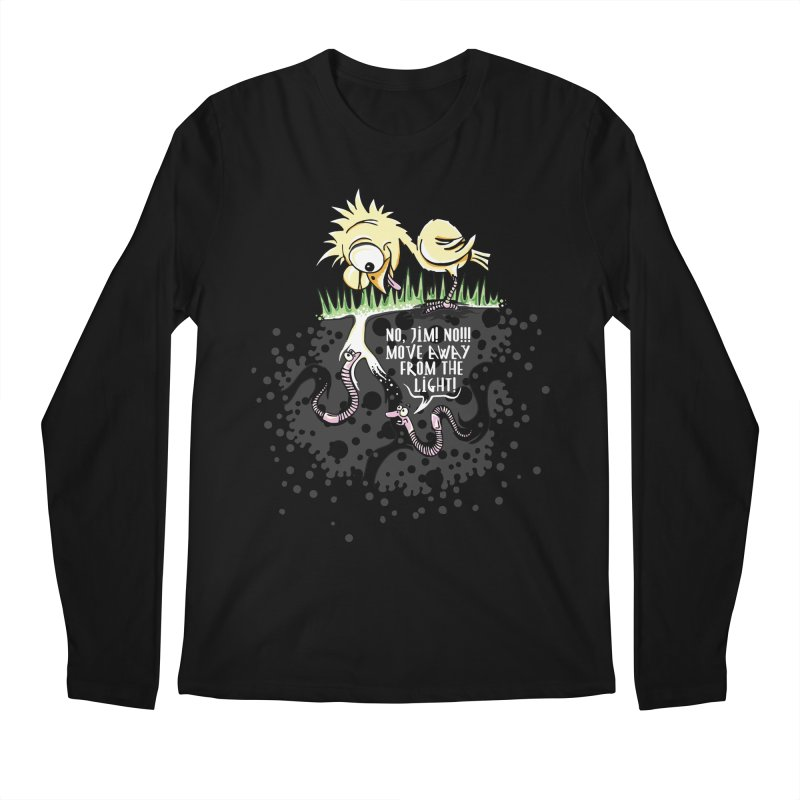 Move Away From The Light! Men's Regular Longsleeve T-Shirt by Hadeda Creative's Artist Shop