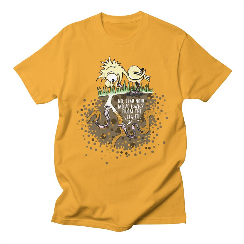 Move Away From The Light! Men's Regular T-Shirt by Hadeda Creative's Artist Shop