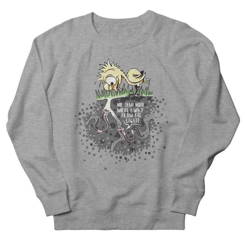 Move Away From The Light! Men's French Terry Sweatshirt by Hadeda Creative's Artist Shop