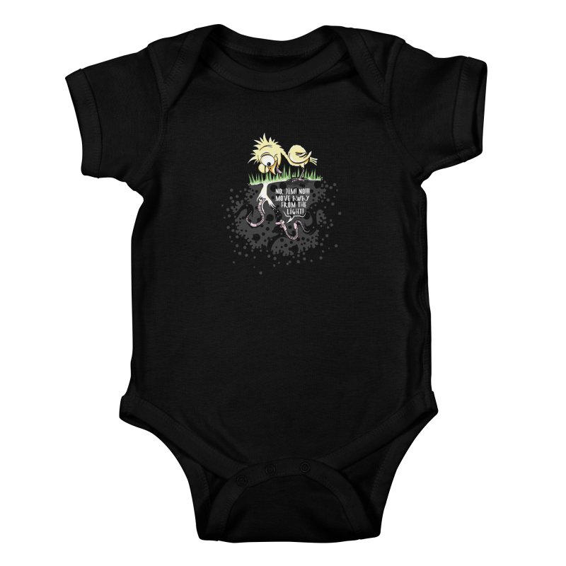Move Away From The Light! Kids Baby Bodysuit by Hadeda Creative's Artist Shop