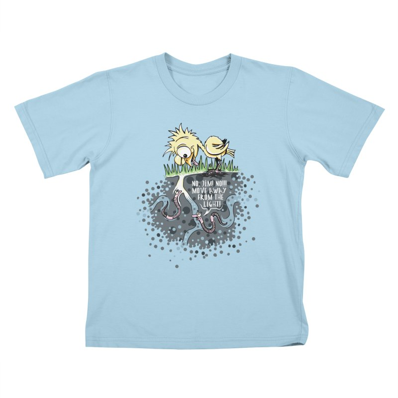 Move Away From The Light! Kids T-Shirt by Hadeda Creative's Artist Shop
