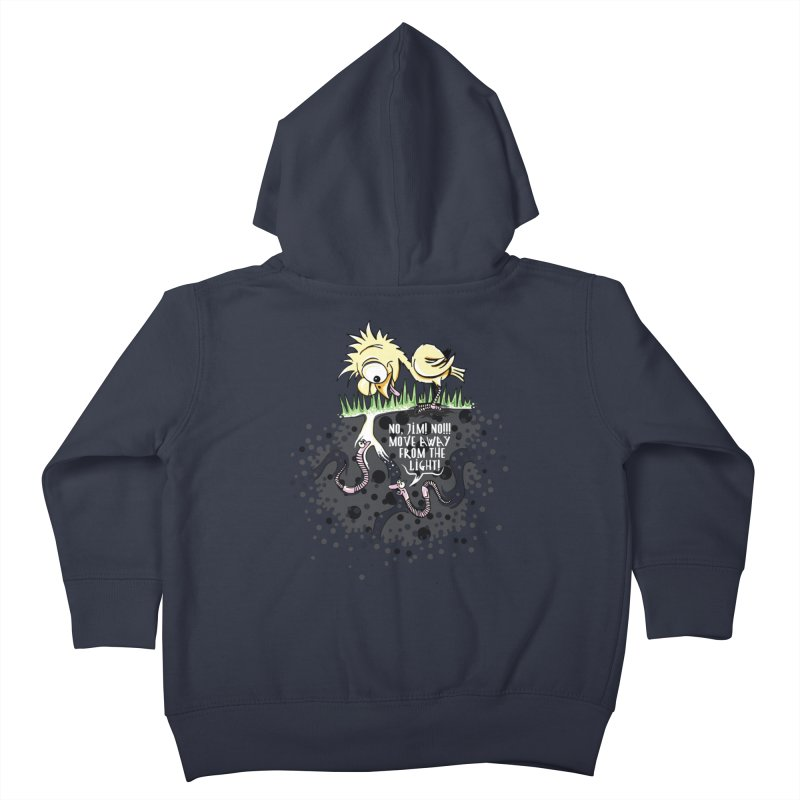 Move Away From The Light! Kids Toddler Zip-Up Hoody by Hadeda Creative's Artist Shop