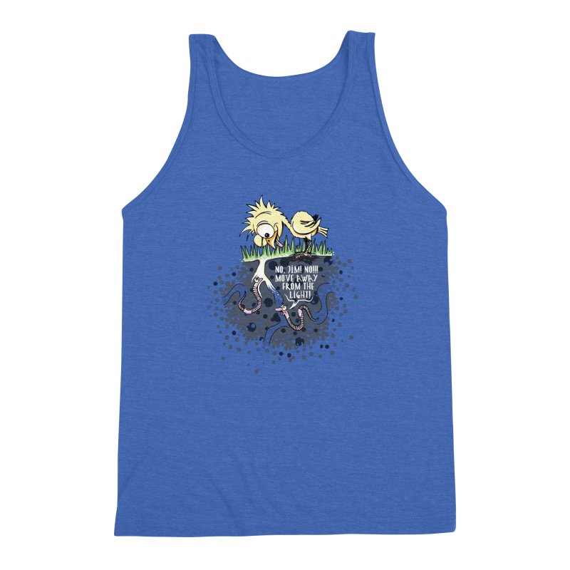 Move Away From The Light! Men's Triblend Tank by Hadeda Creative's Artist Shop