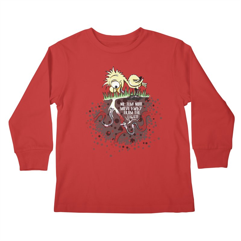Move Away From The Light! Kids Longsleeve T-Shirt by Hadeda Creative's Artist Shop