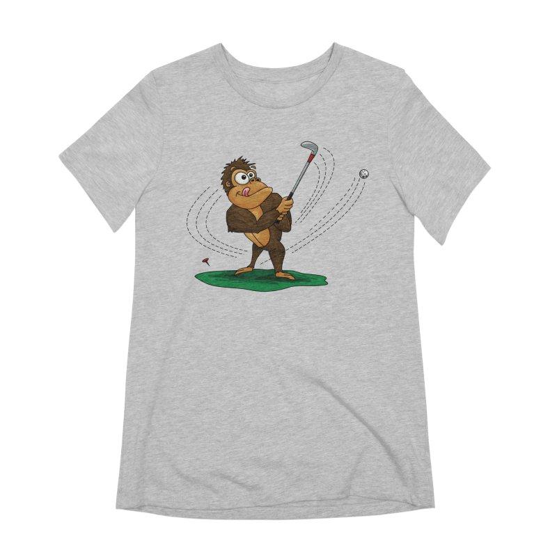 Gorilla Golfer Women's Extra Soft T-Shirt by Hadeda Creative's Artist Shop