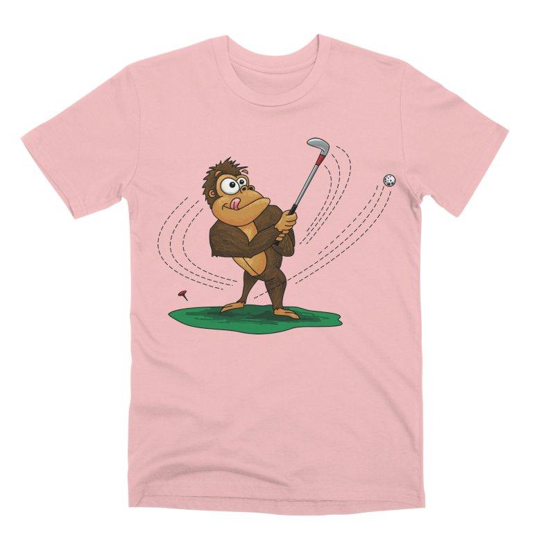 Gorilla Golfer Men's Premium T-Shirt by Hadeda Creative's Artist Shop