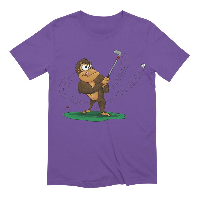 Gorilla Golfer Men's Extra Soft T-Shirt by Hadeda Creative's Artist Shop