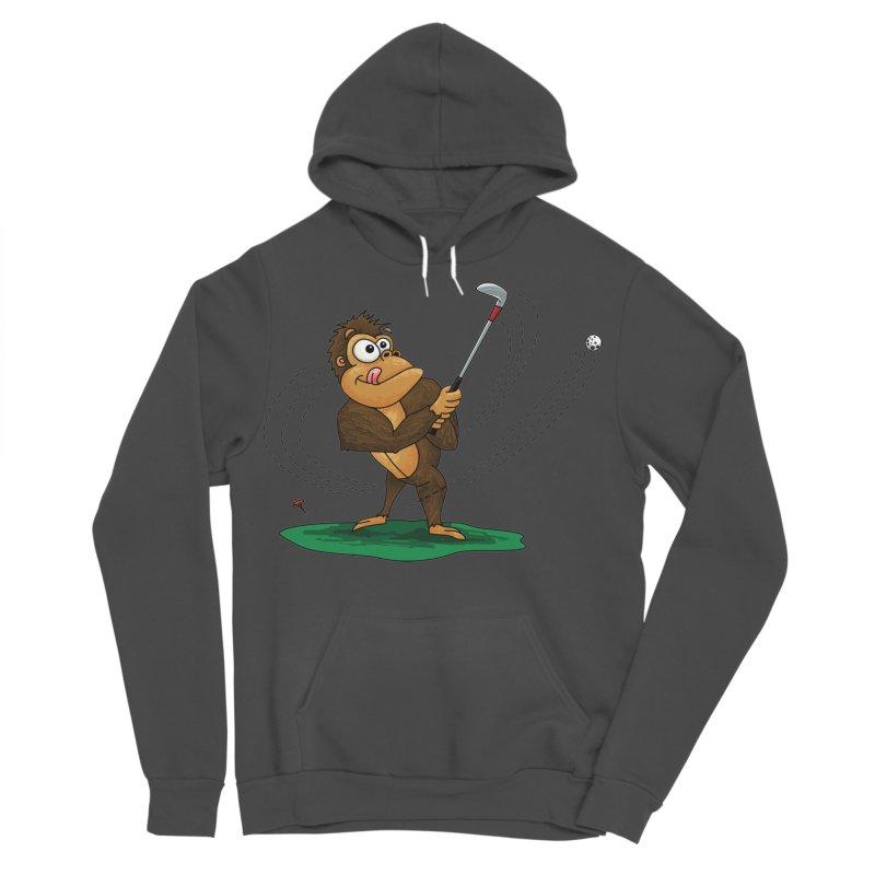 Gorilla Golfer Men's Sponge Fleece Pullover Hoody by Hadeda Creative's Artist Shop